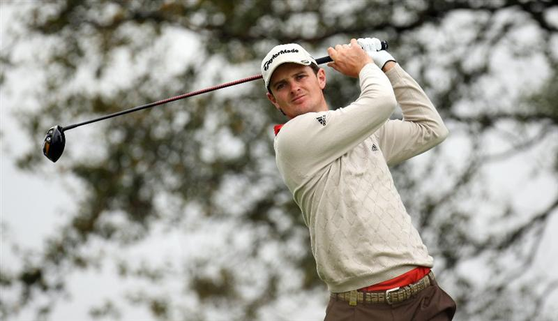 PERTH, UNITED KINGDOM - AUGUST 30:  Justin Rose of England on the par five 2nd hole during the third round of The Johnnie Walker Championship at Gleneagles on August 30, 2008 at the Gleneagles Hotel and Resort in Perthshire, Scotland.  (Photo by Ross Kinnaird/Getty Images)