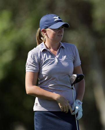RANCHO MIRAGE, CA - MARCH 30:  Stacy Lewis of the USA in action during the pro-am for the 2011 Kraft Nabisco Championship on the Dinah Shore Championship Course at the Mission Hills Country Club on March 30, 2011 in Rancho Mirage, California.  (Photo by David Cannon/Getty Images)
