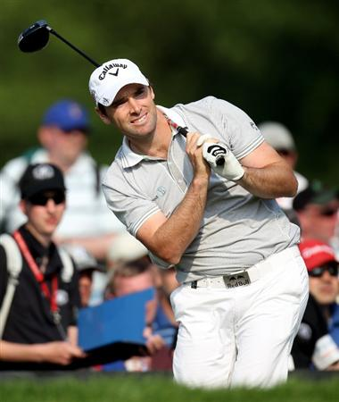 NEWPORT, WALES - JUNE 04:  Oliver Wilson of England during the second round of the Celtic Manor Wales Open on the 2010 Course at the Celtic Manor Resort on June 4, 2010 in Newport, Wales.  (Photo by Ross Kinnaird/Getty Images)