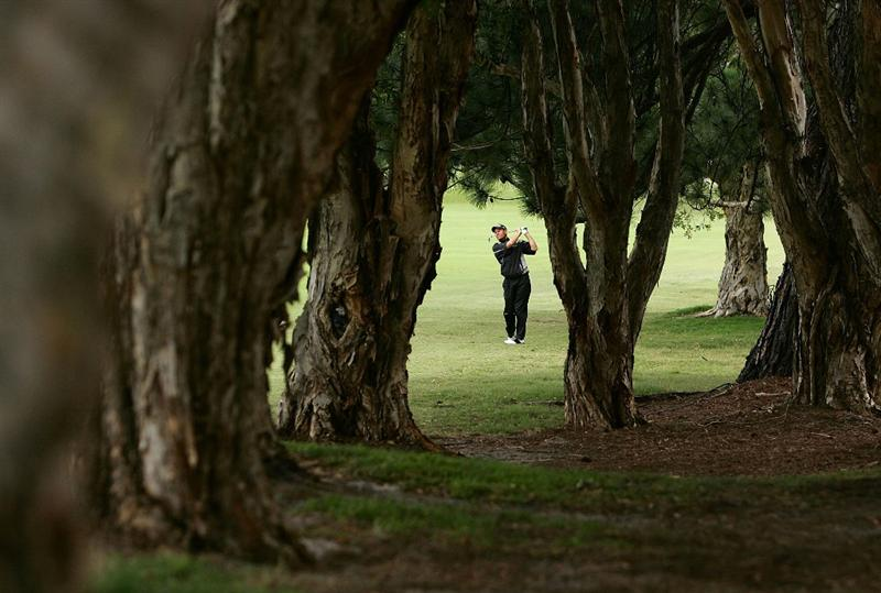 SYDNEY, AUSTRALIA - DECEMBER 11: Simon Griffiths of England plays an approach shot on the Eleventh hole during the first round of the 2008 Australian Open at The Royal Sydney Golf Club on December 11, 2008 in Sydney, Australia.  (Photo by Mark Nolan/Getty Images)