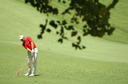 TULSA, OK - AUGUST 11:  Niclas Fasth of Sweden hits his approach shot on the fourth hole during the third round of the 89th PGA Championship at the Southern Hills Country Club on August 11, 2007 in Tulsa, Oklahoma.  (Photo by Stuart Franklin/Getty Images)