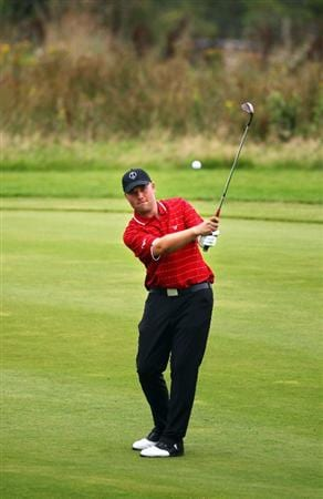 DUMBARTON, SCOTLAND - SEPTEMBER 18:  Craig Matheson of Great Britain play's a shot on the 8th fairway in the afternoon four ball matches at The Carrick on Loch Lomond on September 18, 2009 in Dumbarton, Scotland.  (Photo by Jeff J Mitchell/Getty Images)