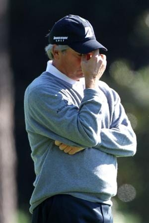 AUGUSTA, GA - APRIL 09:  Fred Couples waits in a fairway during the second round of the 2010 Masters Tournament at Augusta National Golf Club on April 9, 2010 in Augusta, Georgia.  (Photo by Jamie Squire/Getty Images)