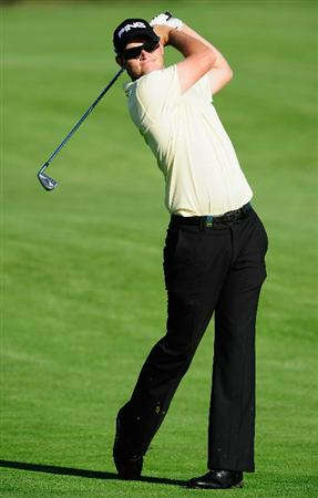 MADRID, SPAIN - MAY 30:  Gary Boyd of England plays his approach shot on the third hole during the final round of the Madrid Masters at Real Sociedad Hipica Espanola Club De Campo on May 30, 2010 in Madrid, Spain.  (Photo by Stuart Franklin/Getty Images)