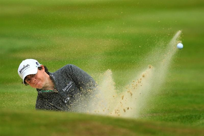 VIRGINIA WATER, ENGLAND - MAY 29:  Rory McIlroy of Northern Ireland hits his 2nd shot on the 3rd hole during the final round of the BMW PGA Championship  at the Wentworth Club on May 29, 2011 in Virginia Water, England.  (Photo by David Cannon/Getty Images)
