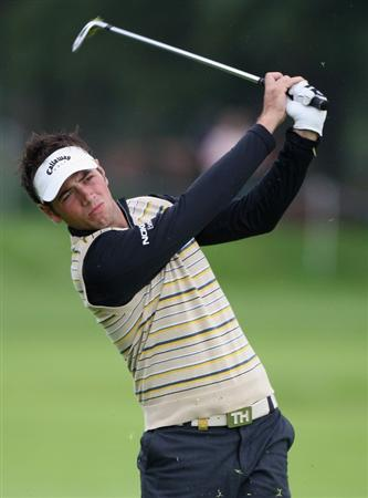 SUTTON COLDFIELD, UNITED KINGDOM - SEPTEMBER 25:  Nick Dougherty of England during the first round the Quinn Insurance British Masters at the Belfry on September 25, 2008 in Sutton Coldfield, England.  (Photo by Ross Kinnaird/Getty Images)