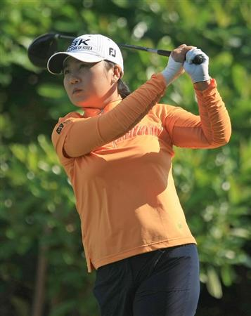 WEST PALM BEACH, FL - NOVEMBER 21:  Jeong Jang of South Korea watches her tee shot on the second hole during the second round of the ADT Championship at the Trump International Golf Club on November 21, 2008 in West Palm Beach, Florida.  (Photo by Scott Halleran/Getty Images)