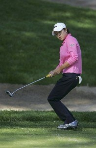 Hee-Won Han during the second round of the 2006 Sybase Classic at Wygakyl Country Club in  New Rochelle, New York on May 20, 2006.Photo by Michael Cohen/WireImage.com