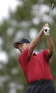 Larry Nelson during the first round of the Regions Charity Classic held at Robert Trent Jones Golf Trail at Ross Bridge in Birmingham, AL, on May 5, 2006.Photo by Steve Levin/WireImage.com