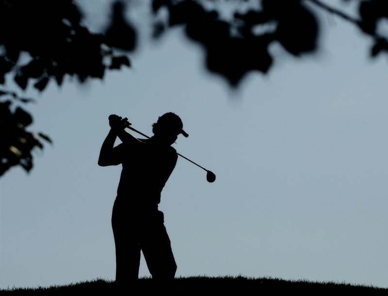 CHASKA, MN - AUGUST 14:  Paul Azinger waits on the tenth hole during the second round of the 91st PGA Championship at Hazeltine National Golf Club on August 14, 2009 in Chaska, Minnesota.  (Photo by Jamie Squire/Getty Images)