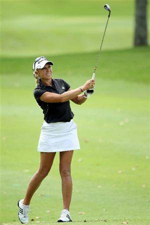 SINGAPORE - FEBRUARY 25:  Natalie Gulbis of the USA in action during the second round of the HSBC Women's Champions at the Tanah Merah Country Club on February 25, 2011 in Singapore.  (Photo by Andrew Redington/Getty Images)