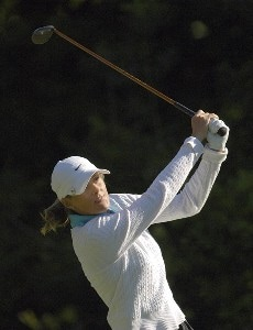 Vicki Goetze-Ackerman during the second round of the Canadian Women's Open at the London Hunt and Country Club in London, Ontario on August 11, 2006.