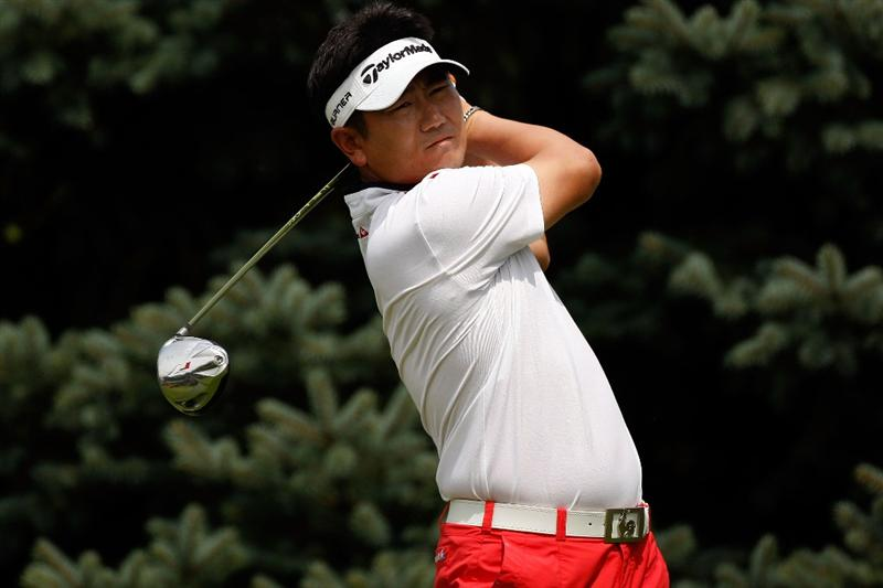 GRAND BLANC, MI - AUGUST 01:  Y.E. Yang of South Korea tees off on the second hole during round three of the Buick Open at Warwick Hills Golf and Country Club on August 1, 2009 in Grand Blanc, Michigan.  (Photo by Chris Graythen/Getty Images)