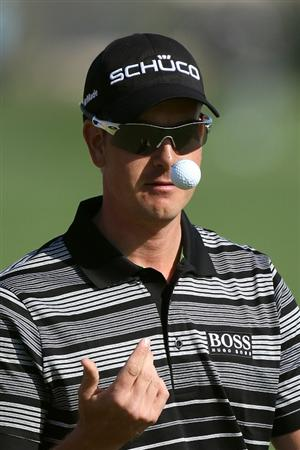 DOHA, QATAR - FEBRUARY 04:  Henrik Stenson of Sweden during the second round of the Commercialbank Qatar Masters at the Doha Golf Club on February 4, 2011 in Doha, Qatar.  (Photo by Ross Kinnaird/Getty Images)
