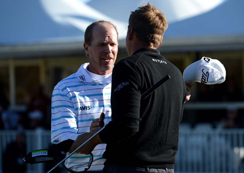 Steve Stricker and Ian Poulter