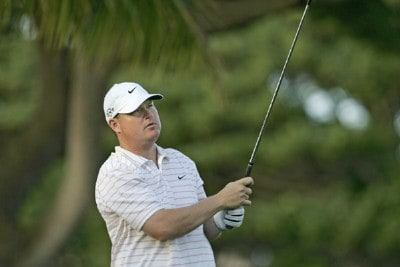 Chad Campbell drives off the 4th tee during the second round of the Sony Open held at the Waialae Country Club in Honolulu, Hawaii on January 12, 2007. PGA TOUR - 2007 Sony Open - Second RoundPhoto by Marco Garcia/WireImage.com