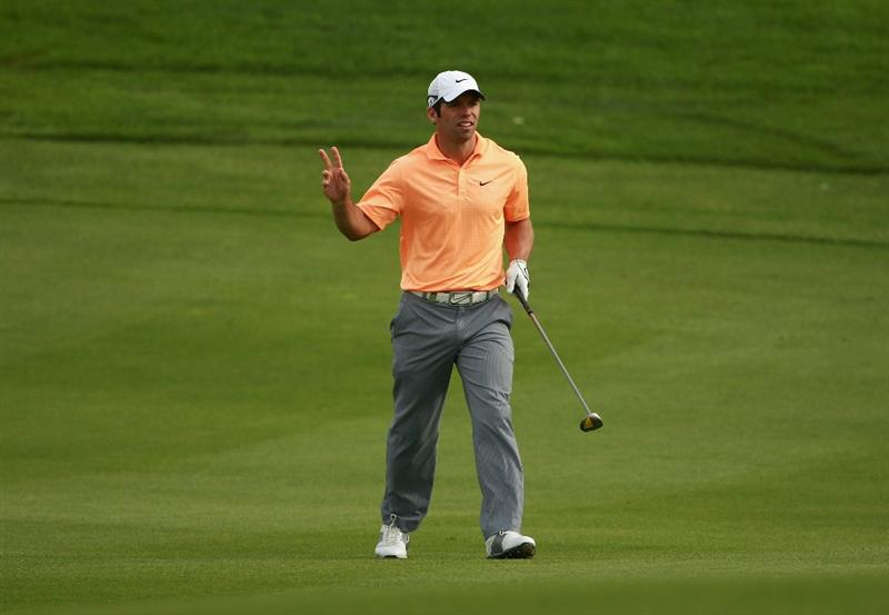 BAHRAIN, BAHRAIN - JANUARY 29:  Paul Casey of England looks on after his second shot on the 13th hole during the third round of the Volvo Golf Champions at The Royal Golf Club on January 29, 2011 in Bahrain, Bahrain.  (Photo by Andrew Redington/Getty Images)