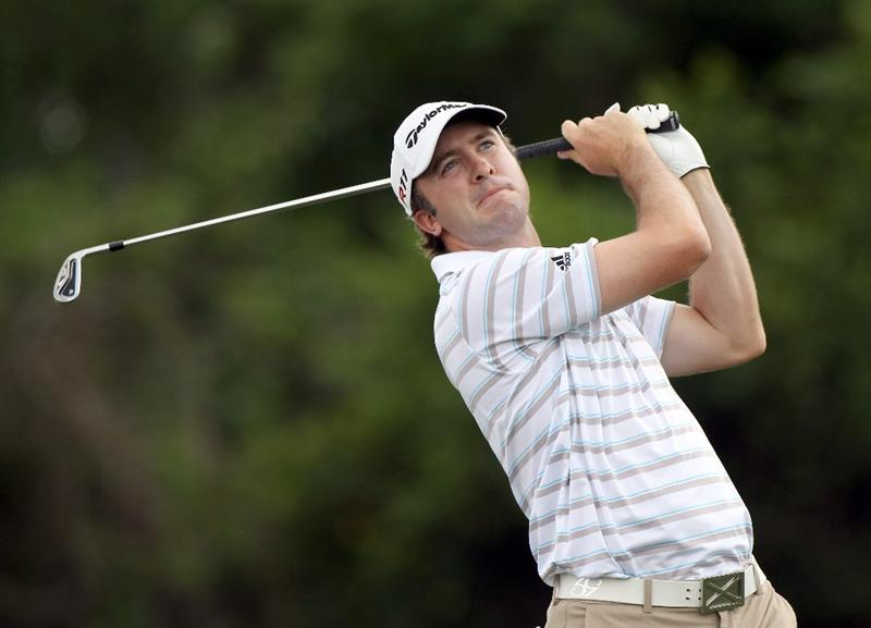 ORLANDO, FL - MARCH 26:  Martin Laird of Scotland plays a shot on the 7th hole during the third round of the Arnold Palmer Invitational presented by MasterCard at the Bay Hill Club and Lodge on March 26, 2011 in Orlando, Florida.  (Photo by Sam Greenwood/Getty Images)
