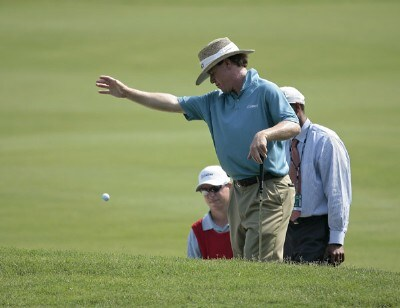 Briny Baird takes a drop on the eleventh hole during the second round of THE PLAYERS Championship held on THE PLAYERS Stadium Course at TPC Sawgrass in Ponte Vedra Beach, Florida, on May 11, 2007. PGA TOUR - 2007 THE PLAYERS Championship - Second RoundPhoto by Chris Condon/PGA TOUR/WireImage.com