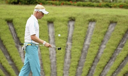 KUALA LUMPUR, MALAYSIA - MARCH 08:  Simon Dyson of England during the third round of the Maybank Malaysian Open held at the Kota Permai Golf & Country Club on March 8, 2008 in Kuala Lumpur, Malaysia  (Photo by Ross Kinnaird/Getty Images)