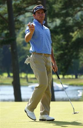 LUSS, UNITED KINGDOM - JULY 11:  Gonzalo Fernandez-Castano of Spain acknowledges the crowd on the 18th green during the Third Round of The Barclays Scottish Open at Loch Lomond Golf Club on July 11, 2009 in Luss, Scotland. (Photo by Andrew Redington/Getty Images)