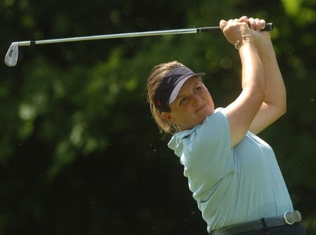 Lorie Kane in action during the first round of the LPGA's Wendy's Championship For Children at Tartan Fields Golf Club in Dublin, Ohio August 25, 2005.Photo by Steve Grayson/WireImage.com