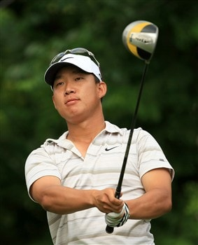 PONTE VEDRA BEACH, FL - MAY 09:  Anthony Kim watches his tee shot on the fifth hole during the second round of the THE PLAYERS Championship on THE PLAYERS Stadium Course at TPC Sawgrass on May 9, 2008 in Ponte Vedra Beach, Florida.  (Photo by Richard Heathcote/Getty Images)