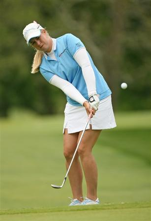 CLIFTON, NJ - MAY 16 : Brittany Lincicome hits her third shot on the 13th hole during the third round of the Sybase Classic presented by ShopRite at Upper Montclair Country Club on May 16, 2009 in Clifton, New Jersey. (Photo by Hunter Martin/Getty Images)
