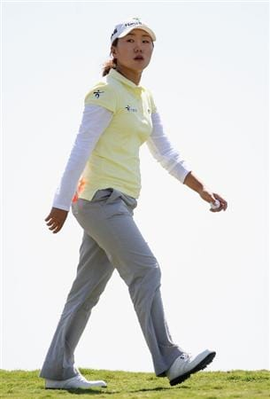 PHOENIX, AZ - MARCH 26:  In-Kyung Kim of South Korea walks to the eighth hole during the first round of the J Golf Phoenix LPGA International golf tournament at Papago Golf Course on March 26, 2009 in Phoenix, Arizona.  (Photo by Christian Petersen/Getty Images)