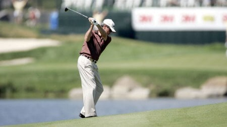 Mark McNulty in action during the first round of the 2005 3M Championship on August 5, 2005 at the TPC of the Twin Cities in Blaine, Minnesota.Photo by Gregory Shamus/WireImage.com