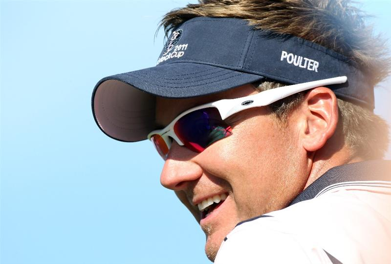 ORLANDO, FL - MARCH 14:  Ian Poulter of England smiles during the first day of the Tavistock Cup at Isleworth Golf and Country Club on March 14, 2011 in Orlando, Florida.  (Photo by Sam Greenwood/Getty Images)