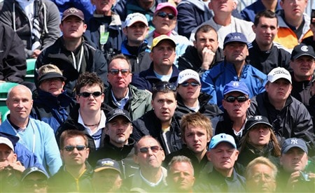SOUTHPORT, UNITED KINGDOM - JULY 20:  Spectators watch the play during the final round of the 137th Open Championship on July 20, 2008 at Royal Birkdale Golf Club, Southport, England.  (Photo by Stuart Franklin/Getty Images)