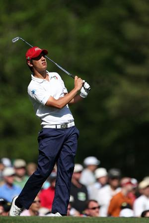 AUGUSTA, GA - APRIL 09:  Amateur Matteo Manassero of Italy watches his tee shot on the 12th tee during the second round of the 2010 Masters Tournament at Augusta National Golf Club on April 9, 2010 in Augusta, Georgia.  (Photo by Andrew Redington/Getty Images)