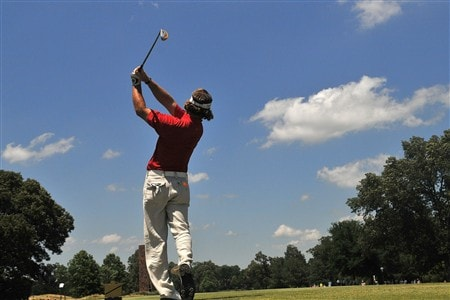 MEMPHIS, TN - JUNE 07:  Alex Cejka of Germany tees off the 9th tee during the third round of the Standford St. Jude Championship at the TPC Southwind on June 7, 2008 in Memphis, Tennessee.  (Photo by Marc Feldman/Getty Images)