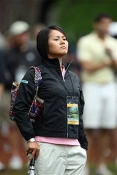 AUGUSTA, GA - APRIL 12:  LPGA player Ai Miyazato watches the play during the third round of the 2008 Masters Tournament at Augusta National Golf Club on April 12, 2008 in Augusta, Georgia.  (Photo by David Cannon/Getty Images)