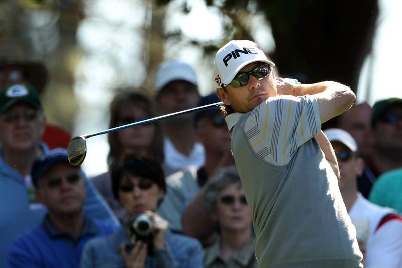 AUGUSTA, GA - APRIL 04:  Heath Slocum hits a shot during a practice round prior to the 2011 Masters Tournament at Augusta National Golf Club on April 4, 2011 in Augusta, Georgia.  (Photo by Andrew Redington/Getty Images)
