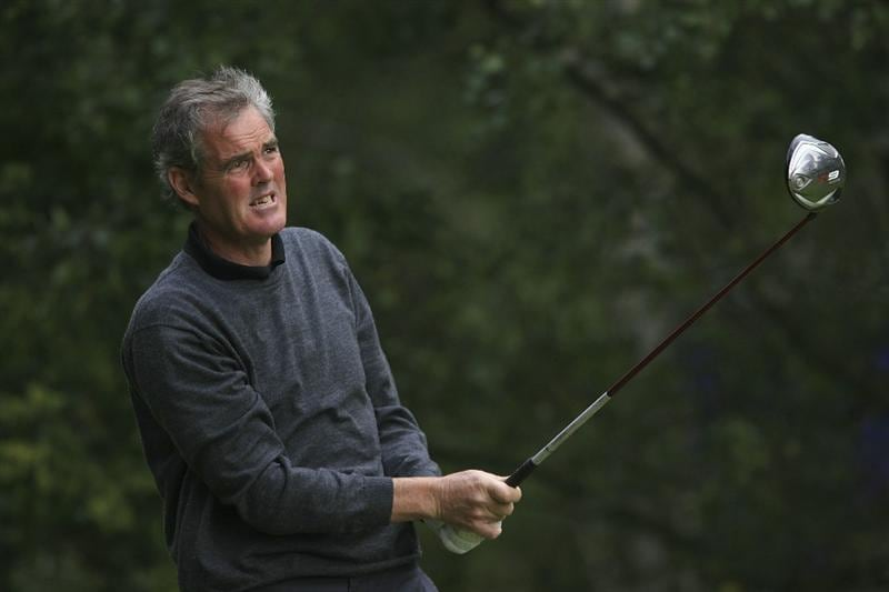 WOBURN, ENGLAND - SEPTEMBER 04:  Mike Clayton of Australia in action during the first round of the Travis Perkins plc Senior Masters played at the Duke's Course, Woburn Golf Club on September 4, 2009 in Woburn, United Kingdom  (Photo by Phil Inglis/Getty Images)