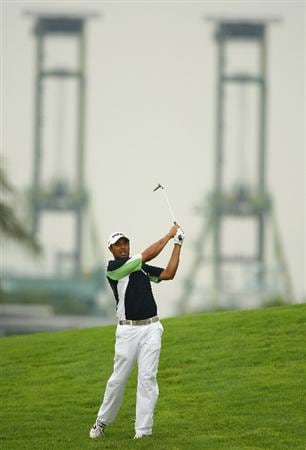 SINGAPORE - NOVEMBER 13:  Arjun Atwal of India in action during the first round of the Barclays Singapore Open at Sentosa Golf Club on November 13, 2008 in Singapore.  (Photo by Ian Walton/Getty Images)