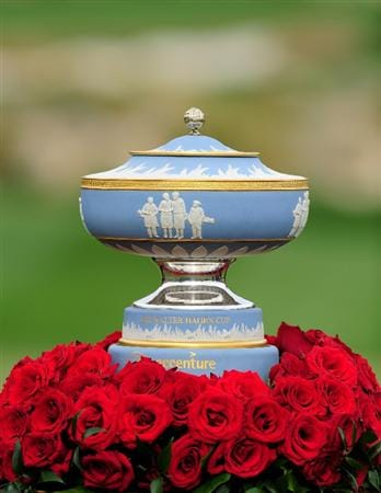 MARANA, AZ - FEBRUARY 21:  The Walter Hagen Cup on display at the Accenture Match Play Championship at the Ritz-Carlton Golf Club at  on February 21, 2010 in Marana, Arizona.  (Photo by Stuart Franklin/Getty Images)