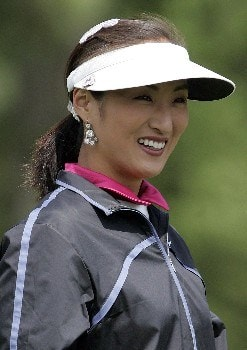 Grace Park of Scottsdale, Arizona smiles  during the first round of the LPGA 2005 Michelob Ultra Open at Kingsmill River Course in Williamsburg, Virginia.Photo by Jim Rogash/WireImage.com