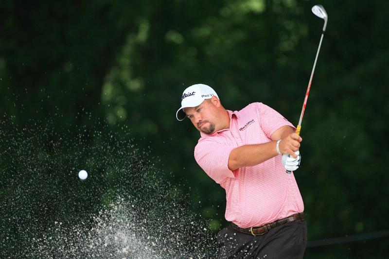 FT. WORTH, TX - MAY 19: Brendon de Jonge hits his second shot on the eighth hole during the first round of the Crowne Plaza Invitational at Colonial Country Club on May 19, 2011 in Ft. Worth, Texas. (Photo by Hunter Martin/Getty Images)