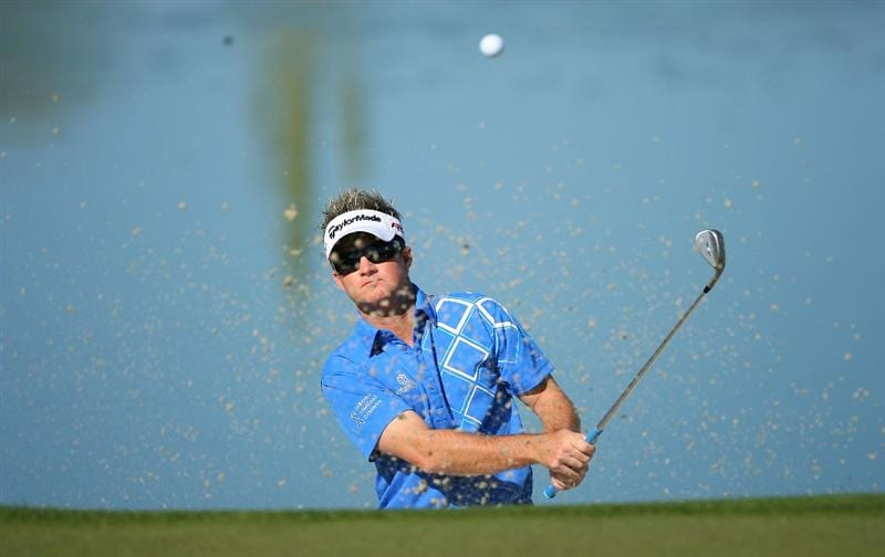 MARANA, AZ - FEBRUARY 18:  Brian Gay hits his second shot on the third hole during round two of the Accenture Match Play Championship at the Ritz-Carlton Golf Club on February 18, 2010 in Marana, Arizona.  (Photo by Hunter Martin/Getty Images)