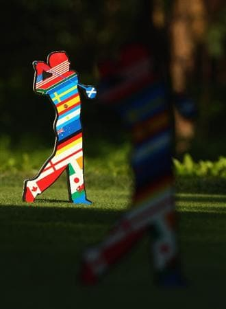 SHENZHEN, CHINA - NOVEMBER 27:  A tee marker during round one of the Omega Mission Hills World Cup at the Mission Hills Resort on November 27, 2008 in Shenzhen, China.  (Photo by Ian Walton/Getty Images)