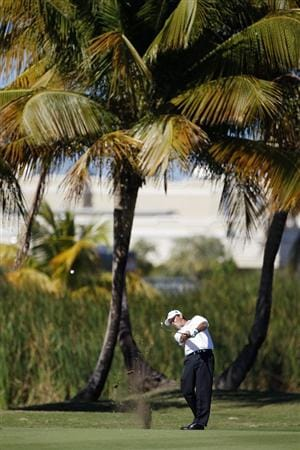 RIO GRANDE, PR - MARCH 12: Hunter Haas hits his second shot on the 17th hole  during the third round of the Puerto Rico Open presented by seepuertorico.com at Trump International Golf Club on March 12, 2011 in Rio Grande, Puerto Rico.  (Photo by Michael Cohen/Getty Images)