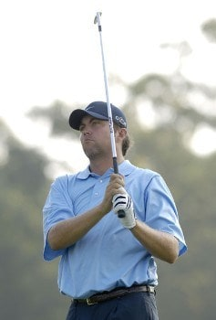 Bo Van Pelt on the par three 17th hole during the first round of the 2005 84 Lumber Classic on Thursday, September 15, 2005 held at the Mystic Rock Golf Course/Nemacolin Woodlands Resort  in Farmington, Pennsylvania.Photo by Marc Feldman/WireImage.com