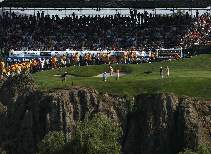 MORELIA, MEXICO- APRIL 26:  A general view of the 18th hole during the final round of the Corona Championship at the Tres Marias Residential Golf Club on April 26, 2009 in Morelia, Michoacan, Mexico. (Photo by Donald Miralle/Getty Images)