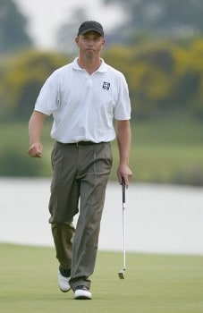 Soren Hansen (SWE) during the third round of the 2005 Open de France at Le Golf National in St. Quentin, France on June 25, 2005.Photo by Alexanderk/WireImage.com