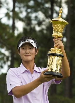 PINEHURST, NC - AUGUST 24: Danny Lee of New Zealand celebrates after winning the U.S. Amateur Championship at Pinehurst Resort & Country Club August 24, 2008 in Pinehurst, North Carolina. (Photo by Chris Keane/Getty Images)