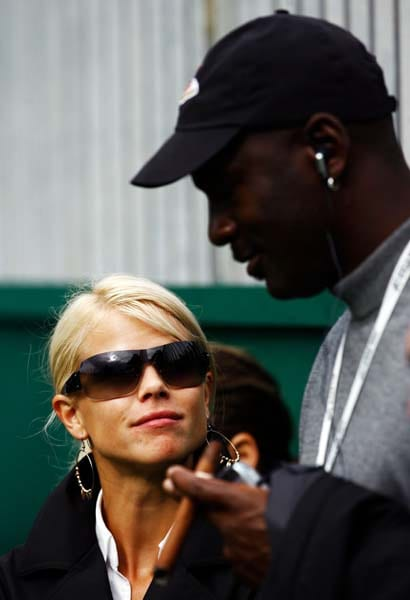 Elin Nordegren and Michael Jordan