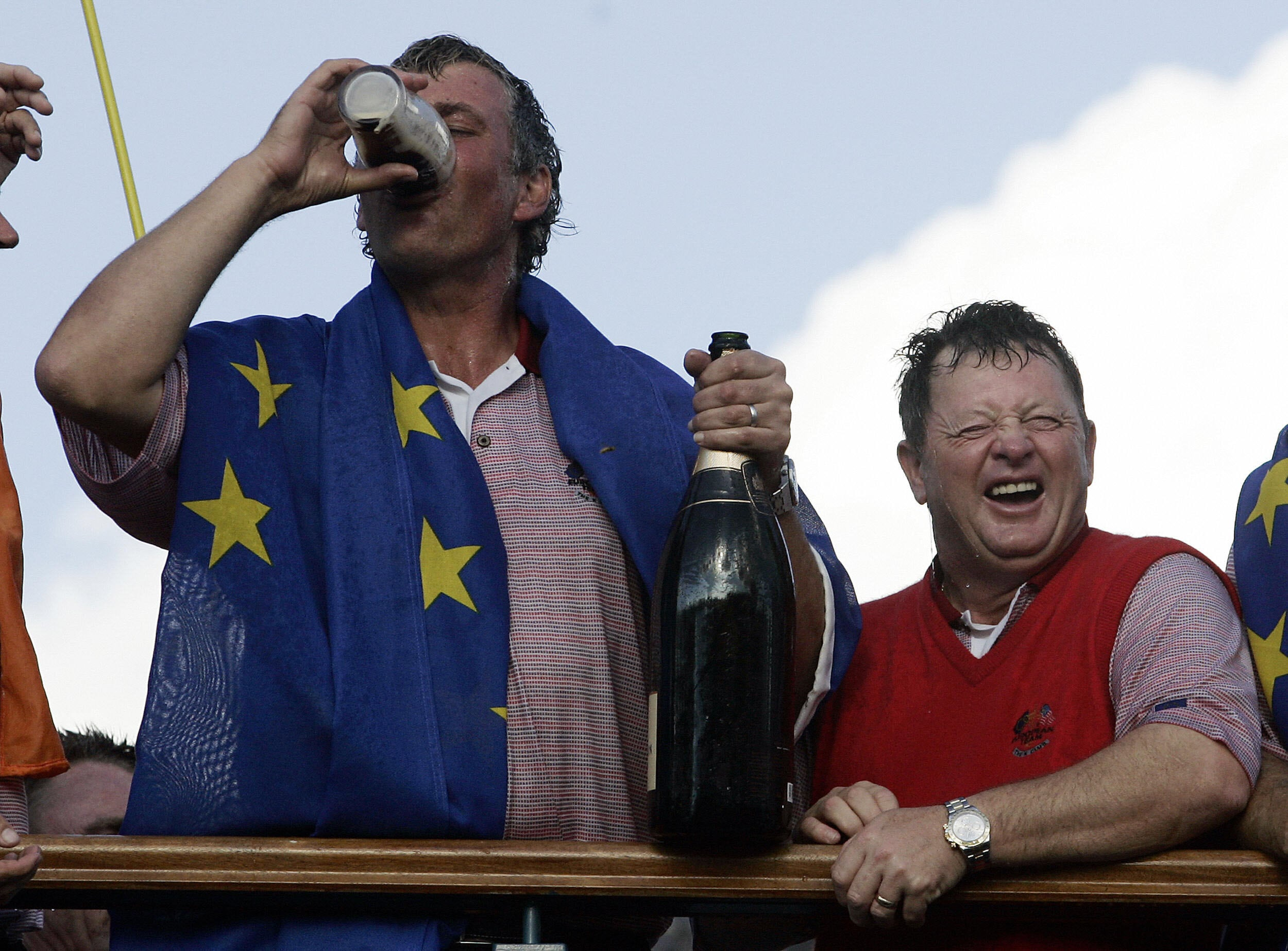 Darren Clarke with Ian Woosnam in the 2006 Ryder Cup